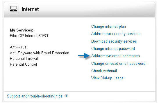 add or remove bell aliant webmail email